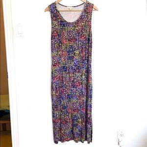 💛 Joan Vass Patterned Maxi Tank Dress